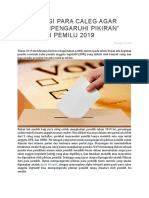 """5 Tips Bagi Para Caleg Agar Bisa """"Mempengaruhi Pikiran"""" Pemilih Di Pemilu 2019"""