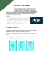 Principio de Arquimedes Informe