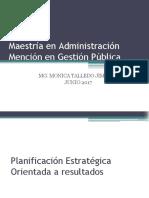 Planificación Estratégica Orientada a Resultados - MAESTRIA en GESTION PUBLICA