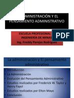 La Administración y El Pensamiento Administrativo
