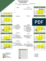 School Calendar 1920