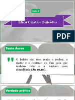 Lição 6 - Ética Cristã e Suicídio