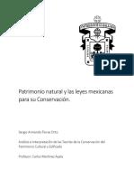 Patrimonio Natural y Las Leyes Mexicanas Para Su Conservación