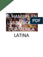 El Hambre en Las Regiones de America Latina America Latina