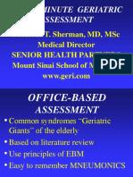 The 10 Min Geriatric Assessment