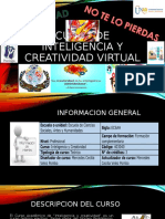 Folleto Creativocurso de Inteligencia y Creatividad Virtual