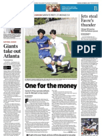 Sports-One for the Money