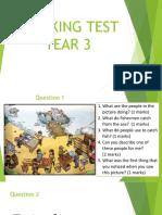 Speaking Test Year 3