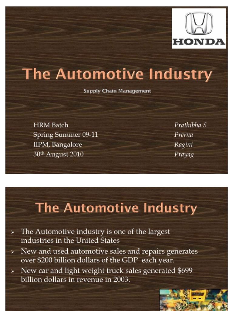 Honda ppt | Honda | Supply Chain