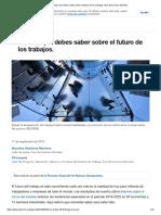 5 Cosas Que Debes Saber Sobre El Futuro de Los Trabajos _ Foro Economico Mundial