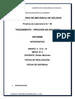 Informe de Lab 06 - Mecánica de Sólidos