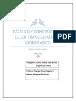 Calculo y Construccion de Un Transformador Monofasico (1)
