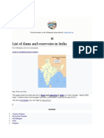 List of dams and reservoirs in India