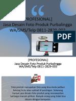 [PROFESIONAL] Jasa Desain Foto Produk Purbalingga, WA/SMS/Telp 0811-2829-003