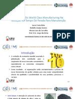 Aplicação Do World Class Manufacturing Na Redução No Tempo De Parada Para Manutenção