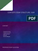 Contexts Essay Structure
