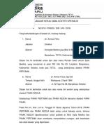 Perjanjian Kerja Sama Dokter Spesialis Dr Anwar Fauzi Spog