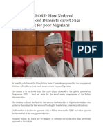 SPECIAL REPORT- How National Assembly Forced Buhari to Divert N121 Billion Meant for Poor Nigerians
