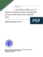 Anderson M_Evaluating the Elastic Behavior of Asphalt Binders Using the MSCR Test_AASHTO Format