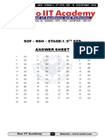 NSO Class 10 Answer Key 2016 Set-A