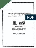 ManualdeFunciones SecretariaGobierno Resolucion 0277de2018