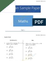 JEE Main Sample Paper Maths 1