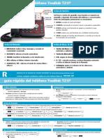 Guia Rapida de Usuario Yealink T21P Solucion Empresa