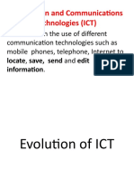 Evolution of ICT