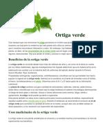 @ Ortiga Verde