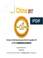 2017 Oil China Competition Result