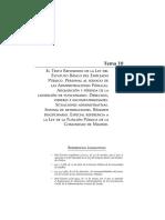 Tema 10 El Texto Refundido de La Ley Del Estatuto Básico Del Empleado Público