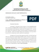 12 MEMO.circ.2017. CMP UFCA - Atualização Dos Procedimentos de Solicitação, Movimentação, Acautelamento, Transferência e Recolhimento de Bens Na UFCA