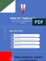 Businessmans Red Tie PowerPoint Template