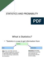 Statistics and Probability (1)