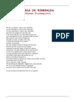 Hermes Trismegisto - Tabla de Esmeralda