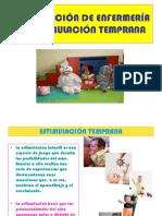 Intervención de Enfermería en Estimulación Temprana