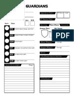 Character Sheet Guardians