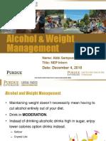 alcohol   weight mangement