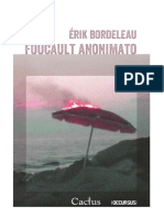 """Foucault Anonimato"", de Érik Bordeleau"