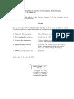 C. Aviso Al Registro de Procesos Sucesorios C.S.J.
