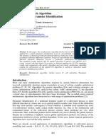 Cuckoo Search Algorithm for Model Parameter Identification
