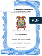 Monografia de Filosofia Andina
