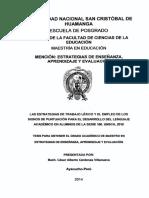 Las estrategias de trabajo léxico y el empleo de los signos de puntuación para el desarrollo del lenguaje académico en alumnos de la serie 100. UNSCH, 2010