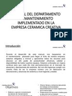 Manual Del Departamento de Mantenimiento Implementado en La