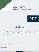Tema 2.2 - Modelo Logico Relacional