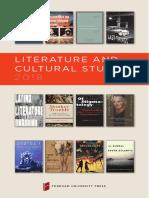 Literature & Cultural Studies 2018 Brochure
