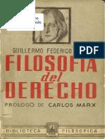 Hegel, GWF - Filosofía Del Derecho, Con Introducción de K. Marx