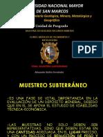 Muestreo Subterráneo - METALOGENIA