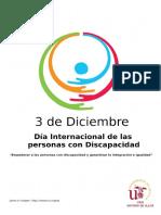 3 de diciembre, CRAI Antonio de Ulloa comprometido con la Discapacidad