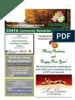COSTA Newsletter - Dec 2018